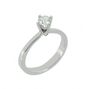 Solitaire ring White gold K18 with diamond Code 004420