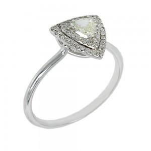 Diamond ring White gold K18 Code 004853