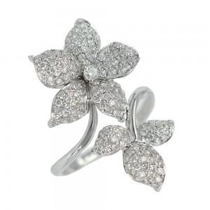 Diamond ring White gold K18 Code 004916