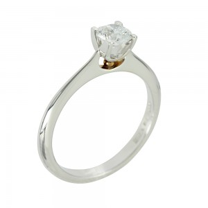 Solitaire ring White gold K18 with diamond Code 004925