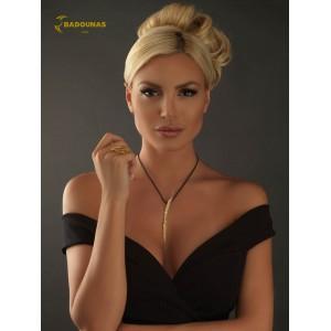 Diamond ring Yellow gold K18 Code 005352