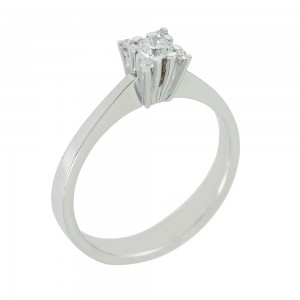 Solitaire ring White gold K18 with diamonds Code 006472