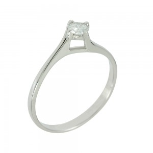 Solitaire ring White gold K18 with diamond Code 006474