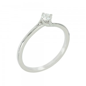 Solitaire ring White gold K18 with diamond Code 003000