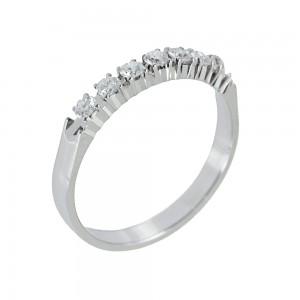 Diamond ring White gold K18 Code 006710