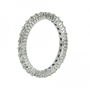 Ring White gold K18 with color diamonds Code 007238