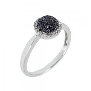 Diamond ring White gold K18 code 002363