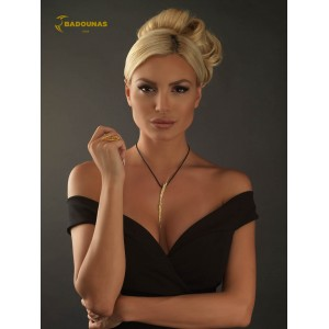 Diamond necklace Yellow gold  K18 Code 002933