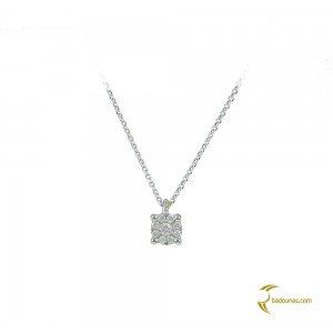 Diamond necklace White gold K18  Brilliant cut Code 003914