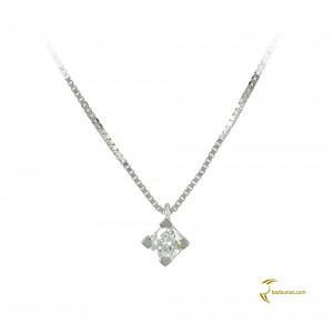 Diamond necklace White gold K18 Code 004034