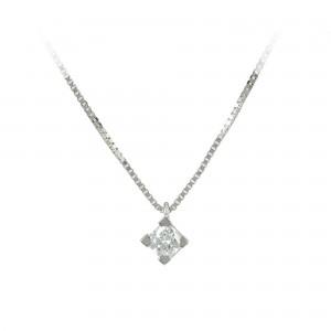 Diamond necklace White gold K18 Code 004041