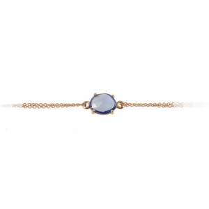 Bracelet Pink gold K18 with Sapphire Code 004249