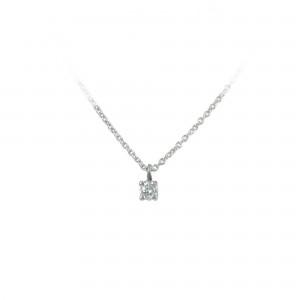 Diamond necklace White gold K18 Code 004416