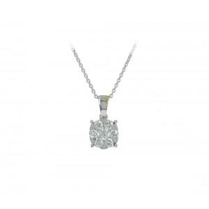 Diamond necklace White gold K18 Brilliant cut code 004482