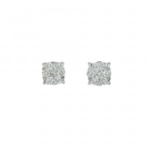 Diamond earrings White gold K18  Brilliant cut Code 004483