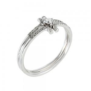 Diamond ring White gold K18 Code 004856