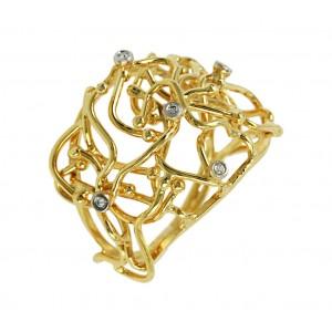 Diamond ring Yellow gold  K18 Code 005813