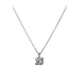 Diamond necklace White gold  K18 Code 006176