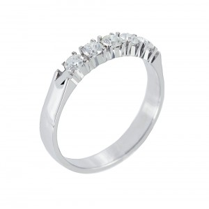 Diamond ring White gold K18 Code 006708