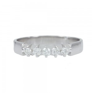 Diamond ring White gold K18 Code 006709