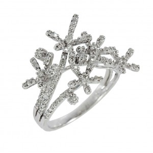 Diamond ring White gold K18 Code 006723