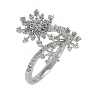 Diamond ring White gold K18 Code 006724