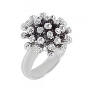 Diamond ring White gold K18 Code 006726