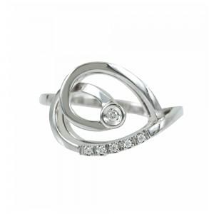 Diamond ring  White gold K18 Code 006875