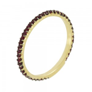 Ring Yellow gold K18 with Rubies Code 006929