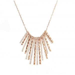 Necklace of Silver 925  Pink gold plated Code 004859
