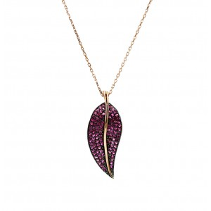 Necklace of Silver 925 Pink gold plated Code 004862
