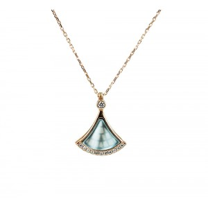 Necklace of Silver 925  Pink gold plated Code 004867