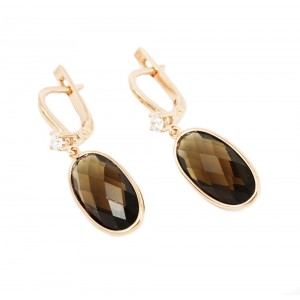 Earrings of Silver 925 Pink gold plated Code 004894