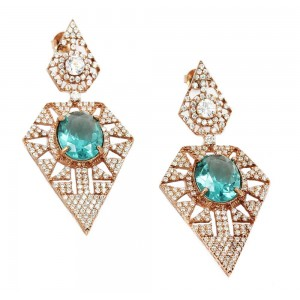 Earrings of Silver 925 Pink gold plated Code 004896