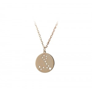 Necklace of Silver 925 Pink gold plated Code 005071