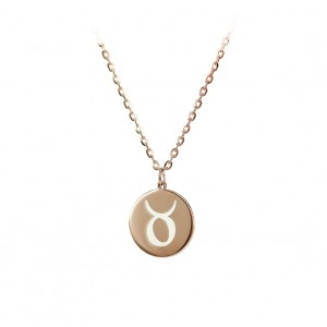 Necklace of Silver 925 Pink gold plated Code 005072