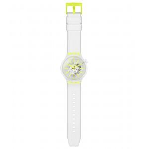 Swatch Big Bold SO27E103 Transparent Rubber Strap