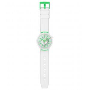 Swatch Big Bold Greeninjelly SO27E104 Transparent Rubber Strap